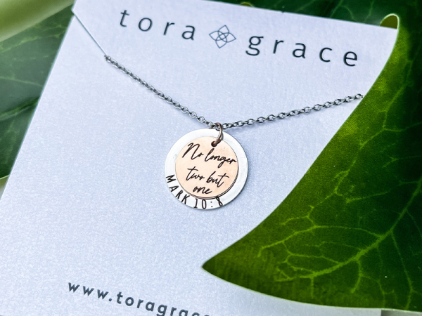 Minimalistic Circle Necklace - No Longer Two But One