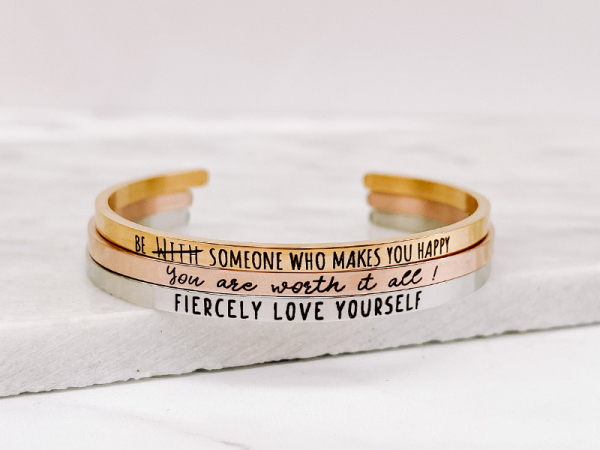 Fiercely Love Yourself - Bracelet Stack