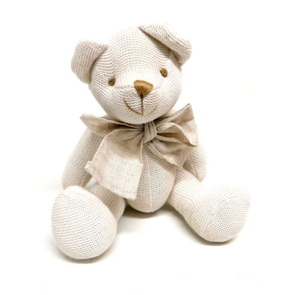 White Knitted Teddy (30cm)
