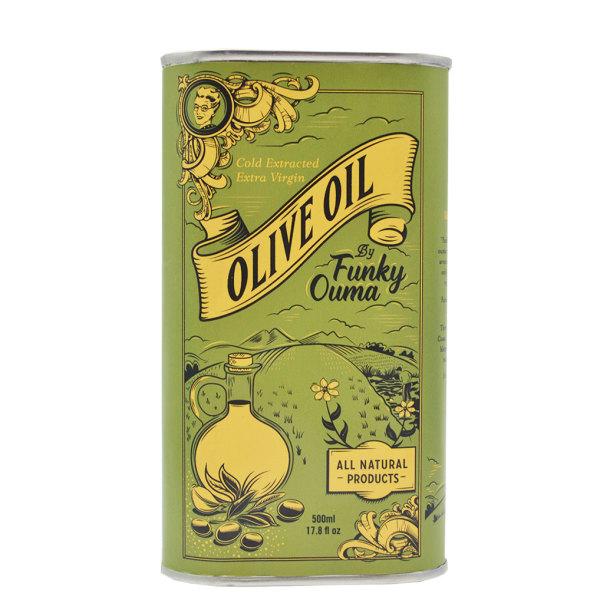 Funky Ouma - Extra Virgin Olive Oil (500ml)