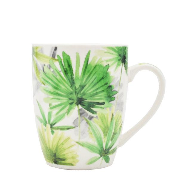 Ceramic Mug - Tropical Leaves