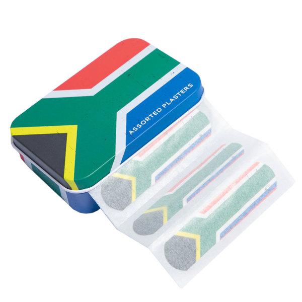 Plasters Tin - SA Flag