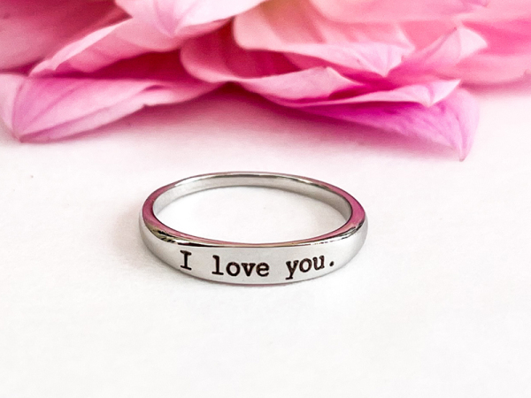 Stacker Ring - I love you