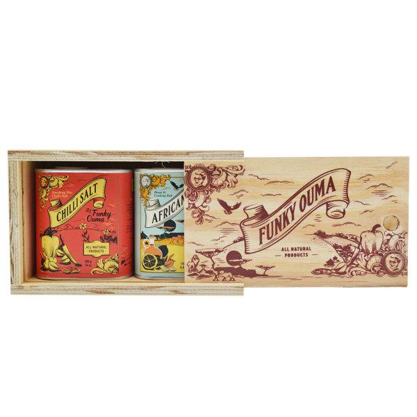 Funky Ouma - Chilli Salt & African Rub Wooden Box Set