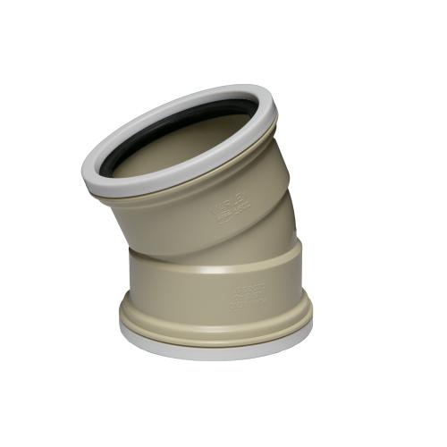 UBRS40  -  22.5° Ribbed Bend 110mm