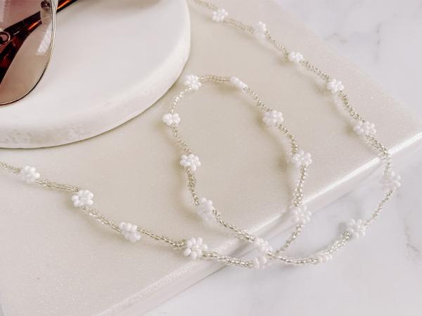 White Daisy - Sunny/Mask Chain