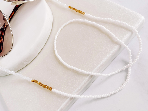 Pearly white - Sunny/Mask Chain