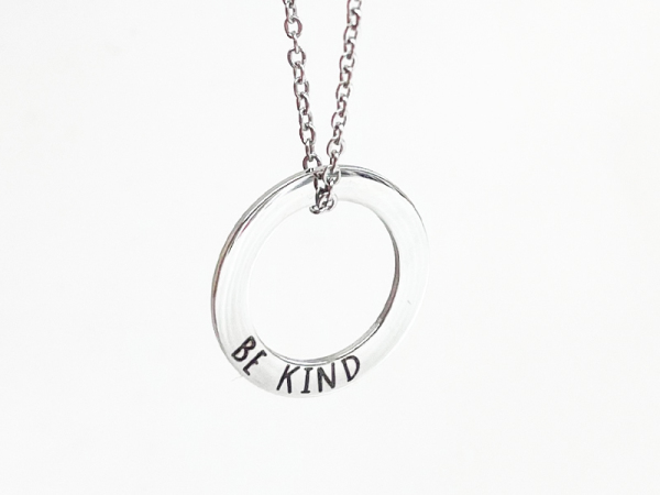 Minimalistic Circle Necklace - Be Kind