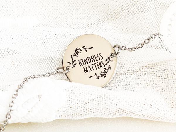 Kindness Matters - Disk Bracelet