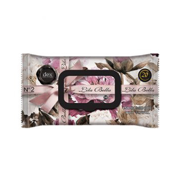 Luxury scented & moisturising wet wipes - Lila Bella 50