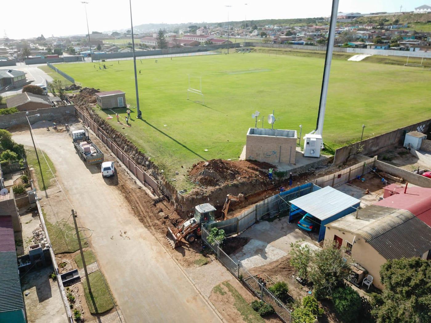 New Precast Boundry Wall at D'Almeida Sportfield