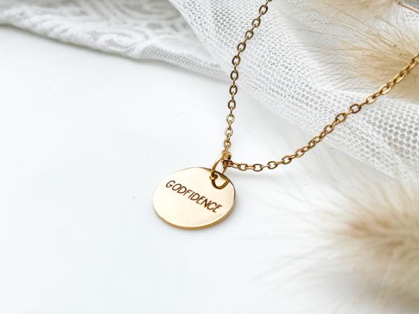 Godfidence - Disk Necklace Set