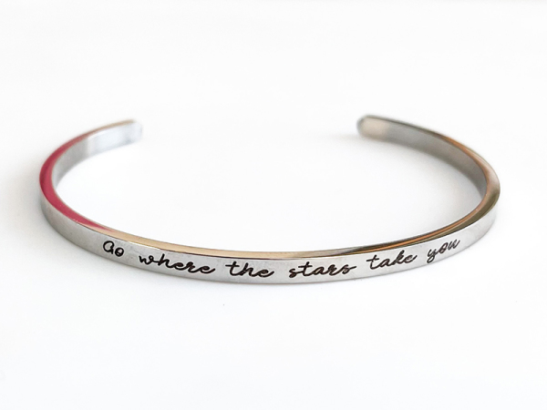 Go where the stars take you - Samsara Cuff Bracelet