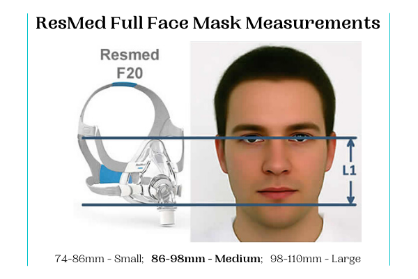 FULL FACE MASK - ResMed Airfit F20 Quiet Air