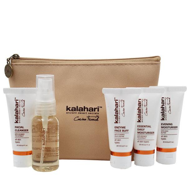 Kalahari Skincare Journey Kit in Bag