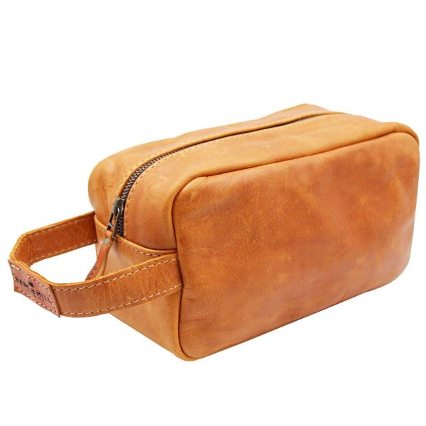 Leather Toiletry Bag - Men's