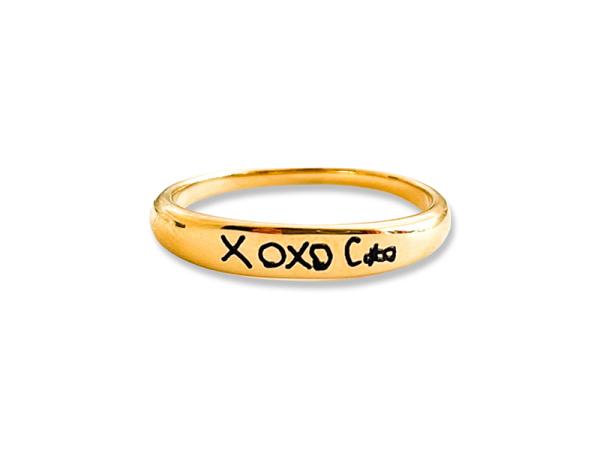 Custom Hand Writing Stacker Ring