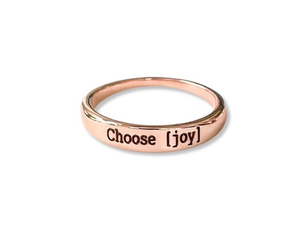 """Stacker Ring - """"Choose Joy"""""""