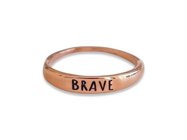 "Stacker Ring - ""Brave"""