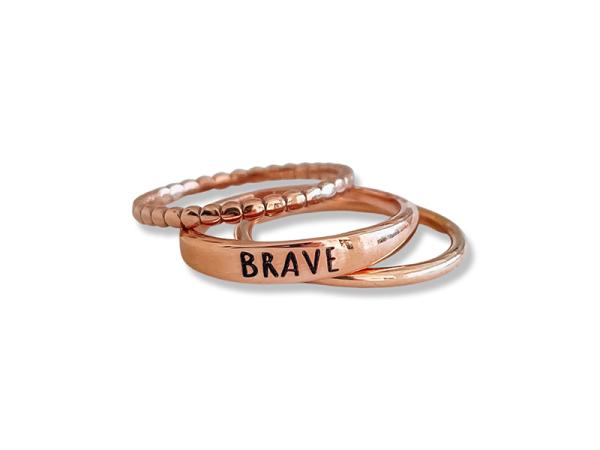 Brave Stacker Ring Trio