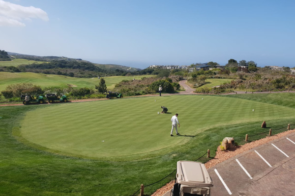 Pezula – New chipping and putting greens construction 2018