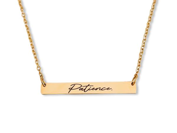 Patience - Horizontal Bar Necklace