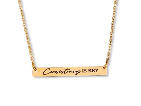 Consistency is Key - Horizontal Bar Necklace