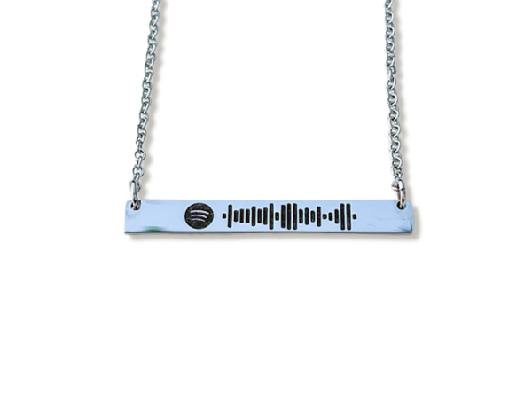 Spotify Code - Horizontal Bar necklace
