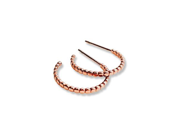 Confetti Hoop Earrings - Rose Gold