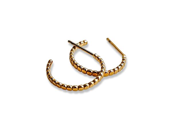 Confetti Hoop Earrings - Yellow Gold