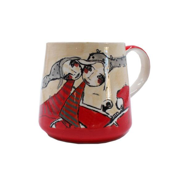 Art de Olivia - Mug (Red Dancing Ladies)
