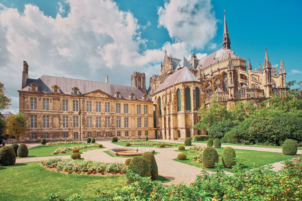 The Reims Cathedral in Champagne