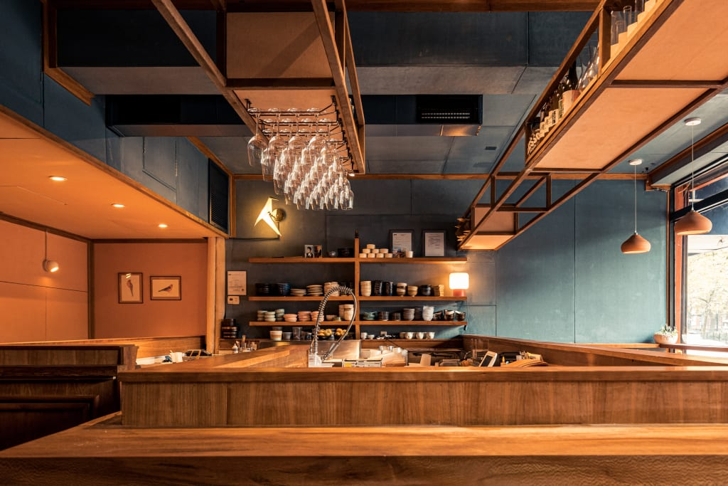 Rosella is a sushi bar in the East Village serving biodynamic wine.
