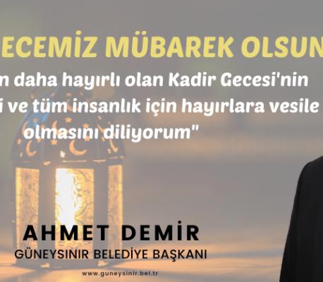 Başkan Demir'in Kadir Gecesi Mesajı