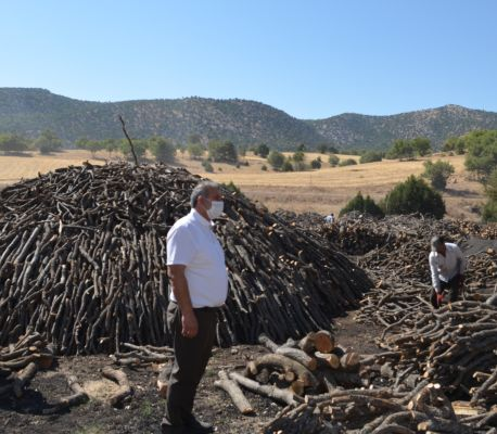 Başkan Ahmet Demir'den Mangal Kömürü Üreticilerine Sürpriz Ziyaret