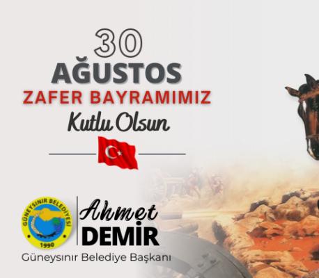 Başkan Demir'den 30 Ağustos Zafer Bayramı Mesajı