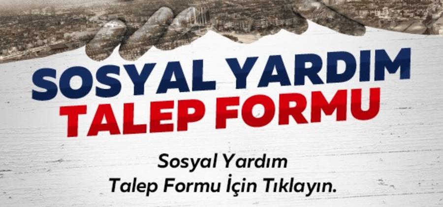 Konya Büyükşehir Belediyesi Sosyal Yardım Talep Formu