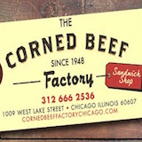 The Corned Beef Factory Sandwich Shop Logo