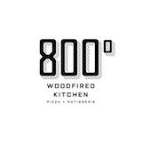 800° Woodfired Kitchen Pizza + Rotisserie Logo