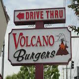 Volcano Burgers Logo