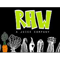 RAW - A Juice Company Logo