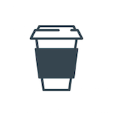 double shot coffee Logo