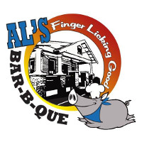 Al's Finger Licking Good BBQ Logo