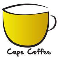 Cups Coffee Shop Logo