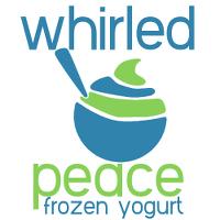 Whirled Peace Frozen Yogurt & Smoothies (Fairmont) Logo