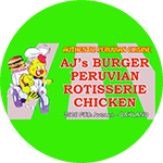 AJ's Burger and Peruvian Food Logo
