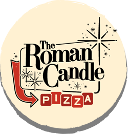 The Roman Candle Pizzeria Logo