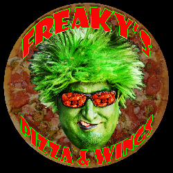 Freaky's Pizza and Wings Logo