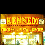 Kennedy Fried Chicken and Pizza Logo