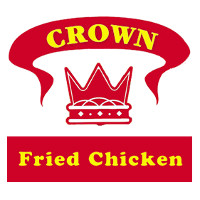 Crown Fried Chicken Coffee Shop Logo